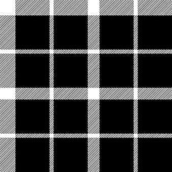Struttura senza cuciture del tessuto del nero del fiore del clan del tartan