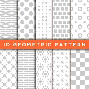 Struttura senza saldatura con ornamento geometrico vector set di modelli