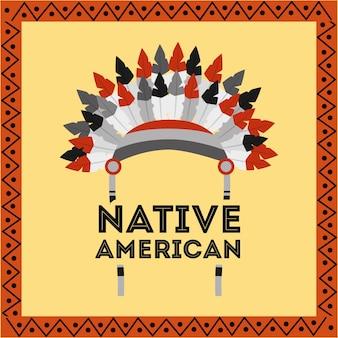 Struttura tribale della decorazione delle piume del copricapo americano