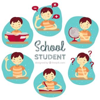 Studente di scuola illustrato