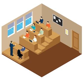 Studente universitario auditorio composizione conferenza