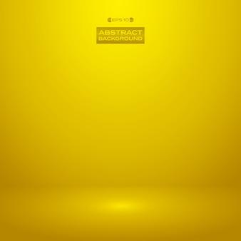 Studio di lusso sullo sfondo di colore dorato sfumato.