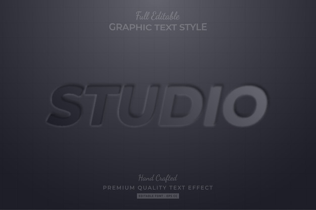 Studio emboss editable eps text style effect premium
