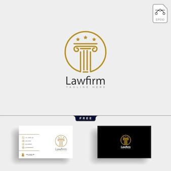 Studio legale, avvocato modello logo creativo con biglietto da visita
