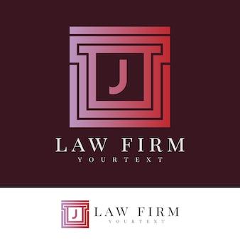 Studio legale lettera j logo design