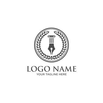 Studio legale, modello di logo dell'ufficio legale