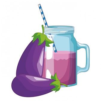 Succo disintossicante di melanzane