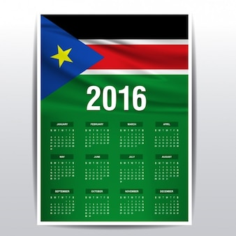 Sud sudan il calendario del 2016