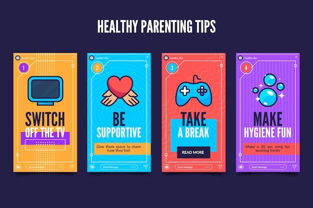 Suggerimenti genitori sani per instagram