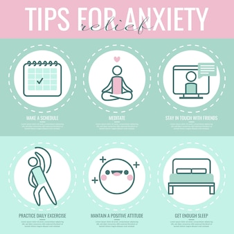 Suggerimenti per l'ansia infografica