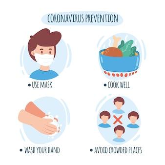 Suggerimenti per la prevenzione e la protezione del coronavirus