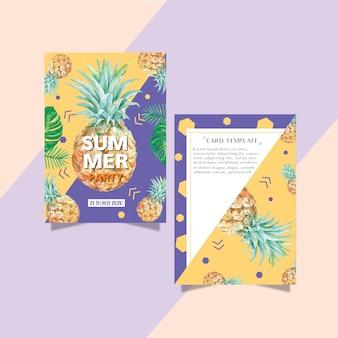 Summer invitation card festa di vacanza sul sole mare spiaggia