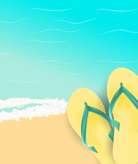 Summer time background. sunny beach illustration