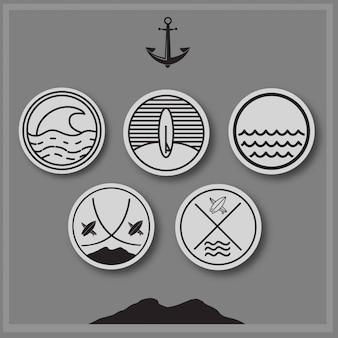 Summer vibe & logo vector collection