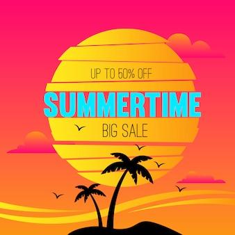 Summertime big sale background