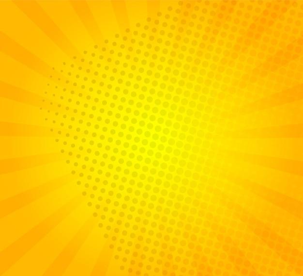 Sunburst su sfondo giallo con modello di punti.