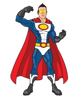 Super hero cartoon mascot