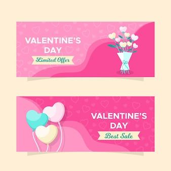 Super offerta banner di vendita di san valentino