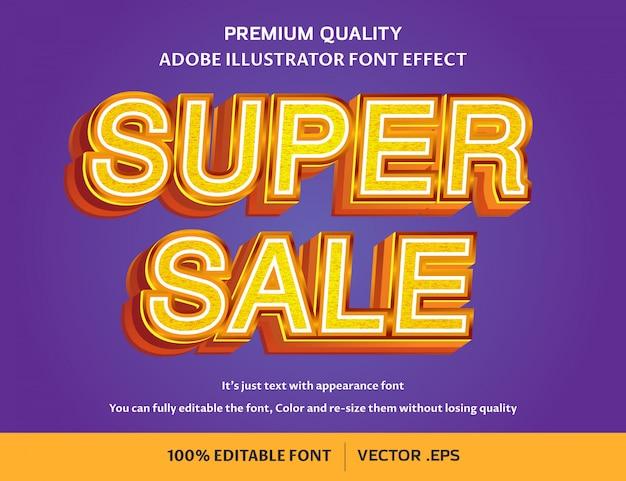 Super vendita effetto carattere modificabile facile 3d