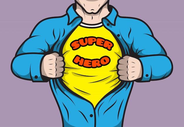 Supereroe mascherato del libro di fumetti
