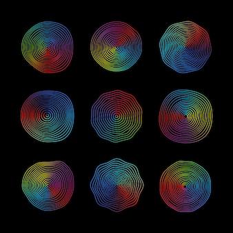 Superficie rotonda astratta dell'onda