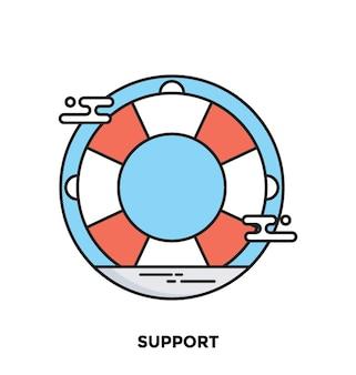 Supporto icona vettore piatto