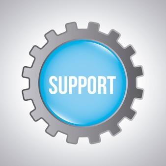 Supporto progettazione su sfondo grigio illustrazione vettoriale
