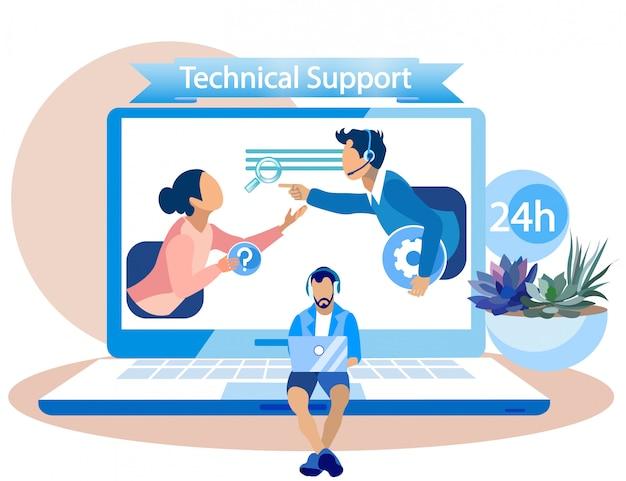 Supporto tecnico banner per dipendenti del call center