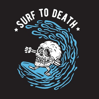 Surf to death skull