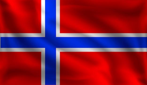 Sventolando la bandiera dei norvegesi