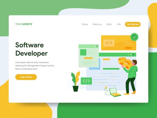Sviluppatore software per la pagina del sito