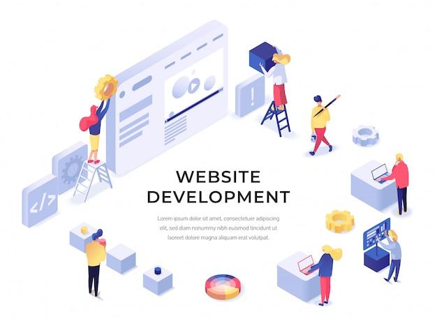 Sviluppo del sito web isometrico