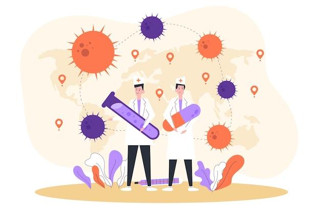 Sviluppo dell'antidoto del coronavirus