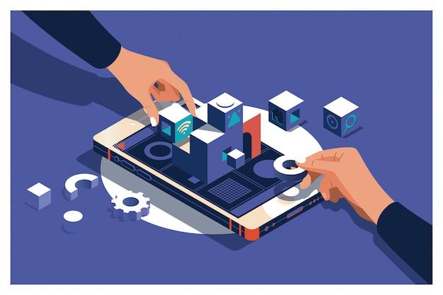 Sviluppo di app per siti web di costruzione di designer