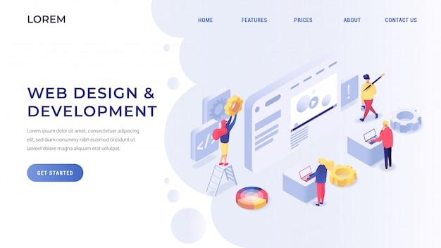 Sviluppo web isometrico