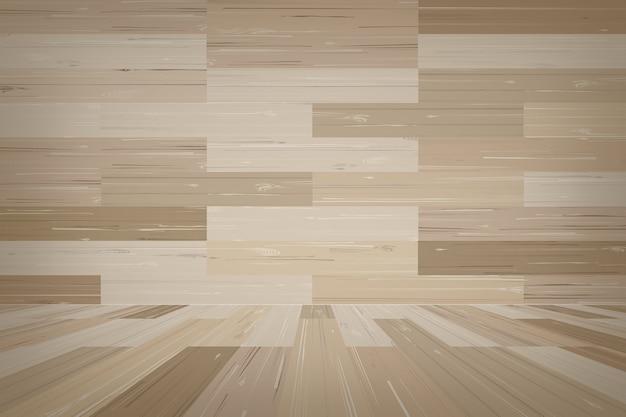 Svuoti il fondo dello spazio della stanza di legno.
