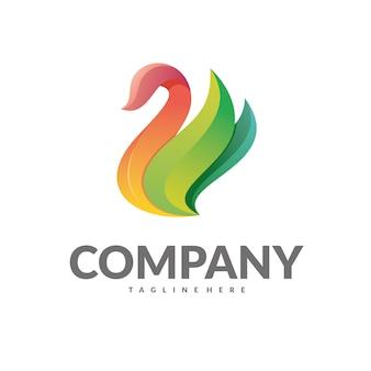 Swan logo vettoriale
