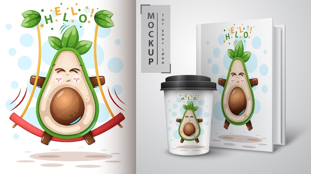 Swing avocado e merchandising