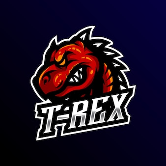 T-rex mascot logo esport gaming