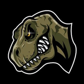 T-rex testa vettoriale