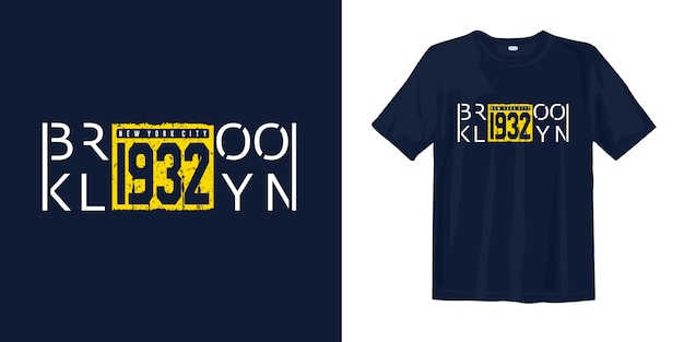 T-shirt con stampa vintage brooklyn
