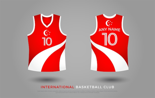 T-shirt da basket di design uniforme