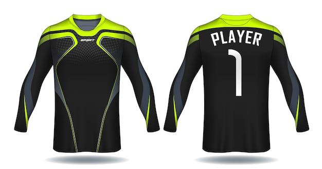 T-shirt da calcio a manica lunga con design t-shirt.
