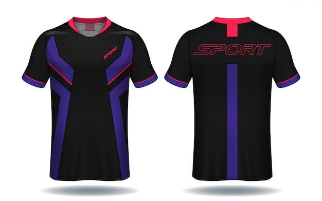 T-shirt da calcio jersey template.sport.
