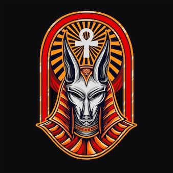 T-shirt design anubis