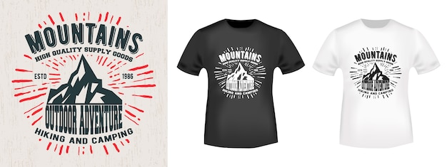 T-shirt design di stampa