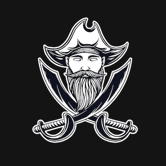 T-shirt design pirati