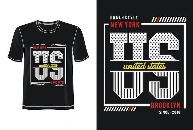 T-shirt design tipografia new york