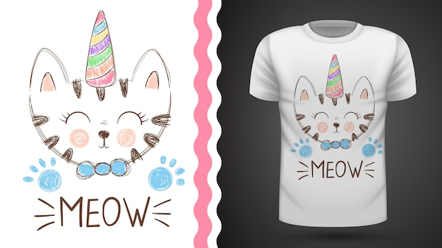 T-shirt gatto carino