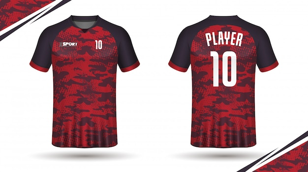 T-shirt modello sportivo da calcio in jersey